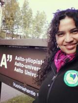 La alumna del Doctorado en Ciencias e Industrias de la Madera, Srta. Patricia Oliveira Martins, se encuentra  realizado una estadía de investigación en la Aalto University, Finlandia
