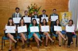 Escuela de Ingeniería Civil en Industrias de la Maderas entregó diplomas de título a 14 egresados