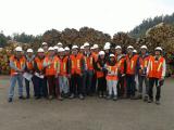 Visita Industrial Forestal León estudiantes de Ingeniería Civil en Industrias de la Madera